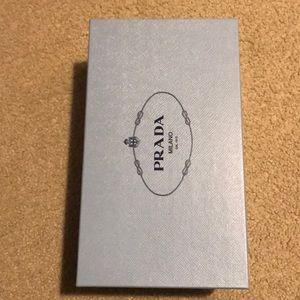 Empty Prada shoe box